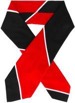 Thom Browne seamed rugby stripe tie scarf