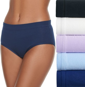 Fruit of the Loom Women's Signature 5-pack Cotton-Blend Stretch Low Rise Brief Panty 5DCSSLB