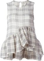 Isa Arfen plaid sleeveless top - women - Cotton/Spandex/Elastane - 6