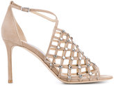Jimmy Choo 'Donnie' sandals - women - Leather/Suede/Crystal - 36.5