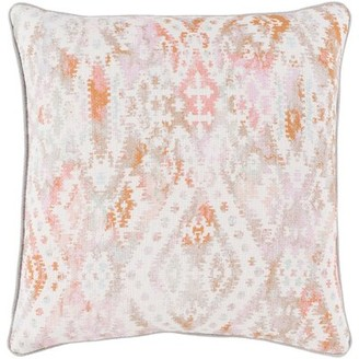 """Bungalow Rose Dacula Cotton Pillow Cover Size: 18"""" H x 18"""" W, Color: Bright Pink"""