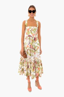 Cara Cara Tropical Birds Ivory Julia Dress