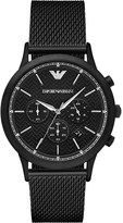Emporio Armani AR2498 Renato stainless steel and leather watch