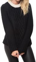 Smythe Colorblock Cableknit Sweater