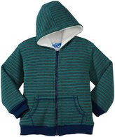 Kapital K Stripe Thermal Zip-Up Hoodie (Toddler/Kid) - Pine-2