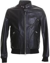 Tom Ford Black Leather Bomber Jacket