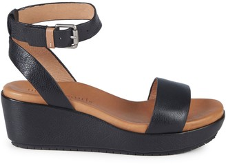Gentle Souls Morrie Leather Platform Wedge Sandals