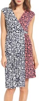 Maggy London Women's Print Faux Wrap Dress