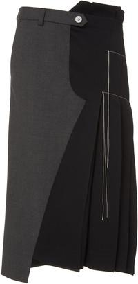 Monse Deconstructed Wool-Blend Skirt