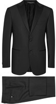 Corneliani Black Super 140's Wool Tuxedo