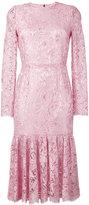 Dolce & Gabbana lace peplum dress - women - Silk/Polyamide/Spandex/Elastane/viscose - 40