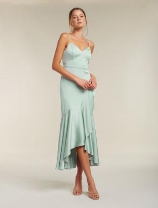 Ever New Hazel Wrap Frill Midi Dress