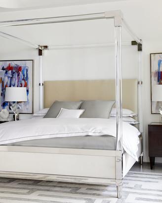 Bernhardt Rayleigh Acrylic King Canopy Bed