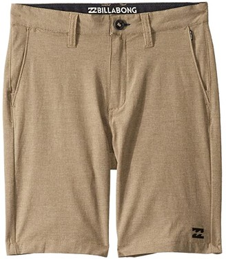 Billabong Kids Crossfire X Walkshorts (Toddler/Little Kids) (Khaki) Boy's Shorts