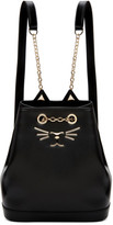 Charlotte Olympia Black Petite Feline Backpack
