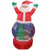Asstd National Brand 5' Inflatable Santa Claus Snow Globe Lighted YardArt
