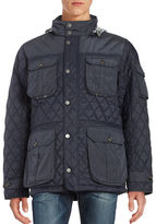 Black Brown 1826 Quilted Zip-Front Jacket