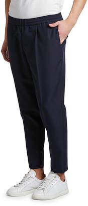Moncler Men's Wool Drawstring Tapered Pants