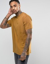 Antioch Oversized Drop Pocket T-Shirt with Logo Side Tab