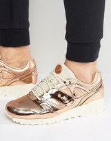 Saucony Grid Sd Ether Trainers In Metallic Gold S70303-1