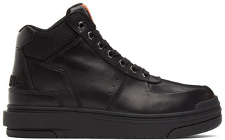 Heron Preston Black Leather Protection Boots