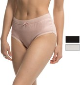 Laura Ashley Solid Panties - Briefs, 3-Pack (For Women)
