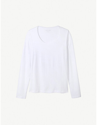 The White Company Essential double-layer cotton-jersey T-shirt