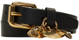 Alexander McQueen Black & Gold Safety Pin Double Wrap Bracelet