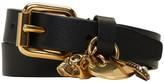 Alexander McQueen Black & Gold Safety Pin Double Wrap Bracelet