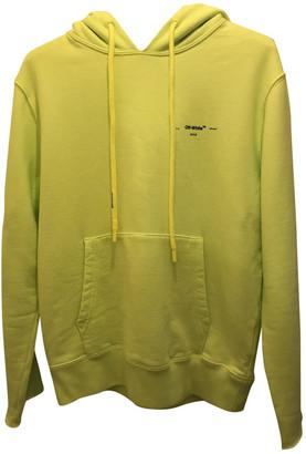 Off-White Yellow Cotton Knitwear & Sweatshirts