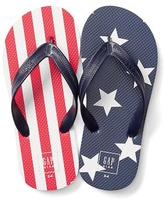 Gap Stars and stripes flip flops