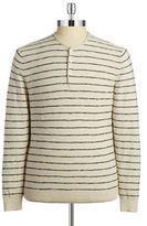 Black Brown 1826 Striped Henley Shirt