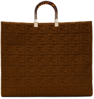 Fendi Brown Forever Sunshine Shopper Tote