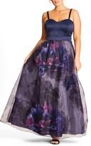 City Chic Plus Size Women's Majestic Floral Ballgown Skirt