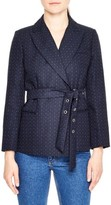 Sandro Women's Polka Dot Belted Jacket