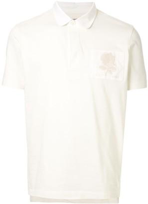 Kent & Curwen Short-Sleeved Rose Patch Polo Shirt