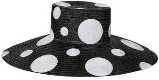 Eric Javits Dotty Wide Brim Luncheon Hat