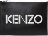 Kenzo Black Logo A4 Pouch