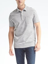 Banana Republic Performance Pique Thick Stripe Polo