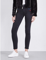 Paige Hoxton Ankle embroidered skinny high-rise jeans