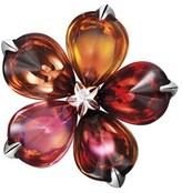 Baccarat Fleurs De Psydelic Silver Crystal Pin.