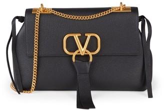Valentino VRing Leather Shoulder Bag