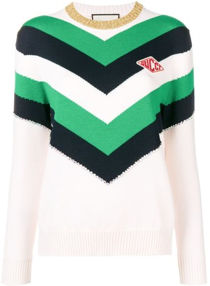 Gucci Colour Block Knit Sweater