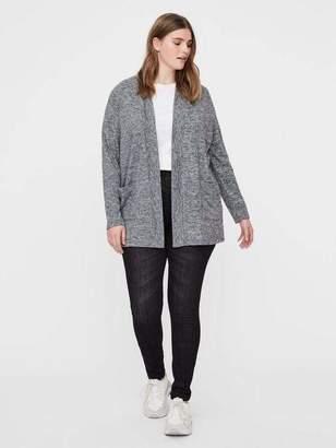 Junarose Asra Long Sleeve Knit Cardigan Sweater in Medium Gray Melange Size XL-5