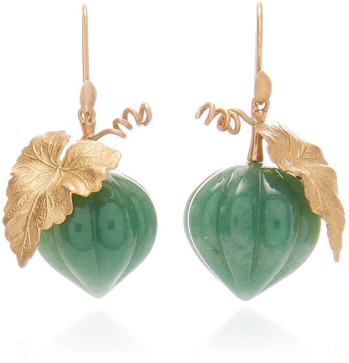 Annette Ferdinandsen Aventurine Squash Earrings