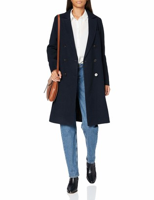 Scotch & Soda Women's Double Breasted Tailored Coat In Wool Blend