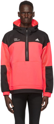 adidas Pink Tech Doubleknit Pullover Hoodie