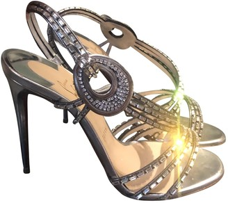 Christian Louboutin Silver Leather Sandals