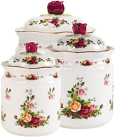 """Royal Albert Old Country Roses"""" Canisters, Set of 3"""