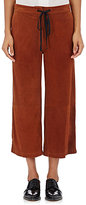 Robert Rodriguez WOMEN'S SUEDE WIDE-LEG CROP PANTS